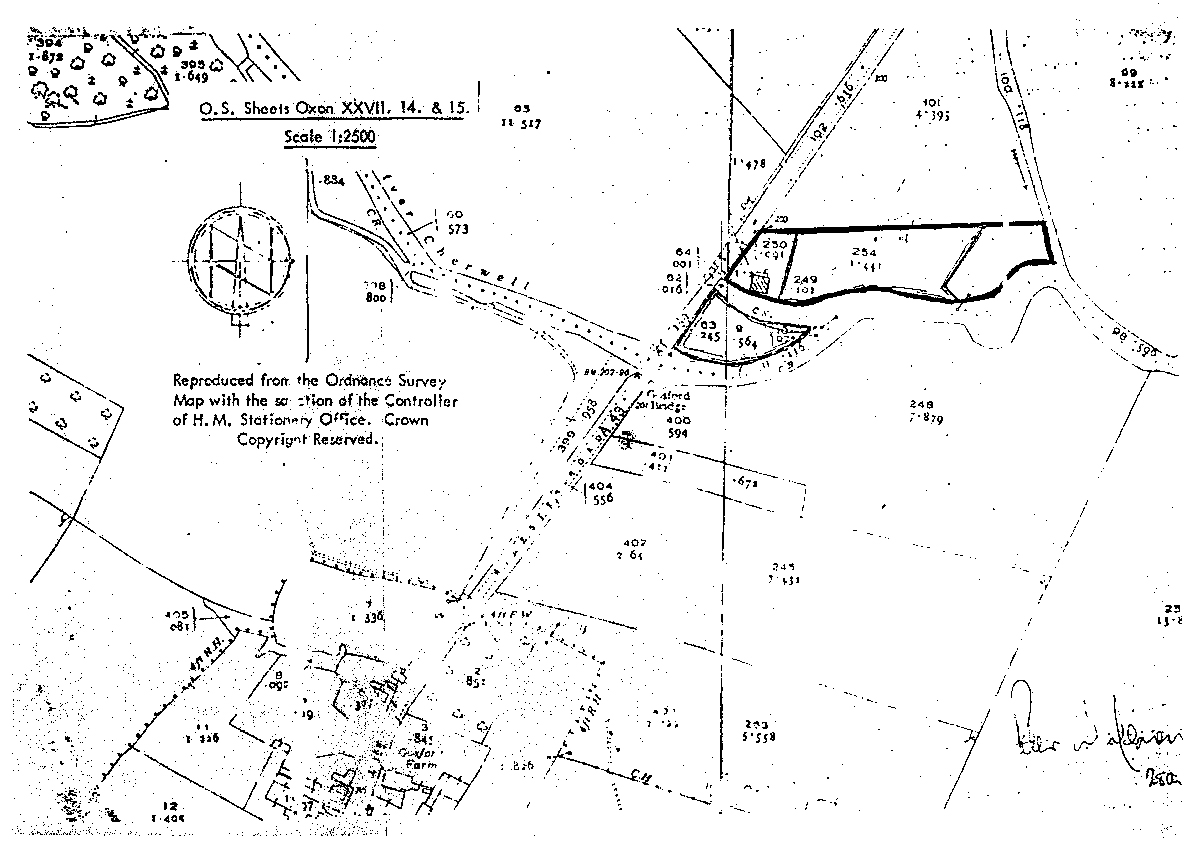 Ordinance Survey map of the site at Gosford
